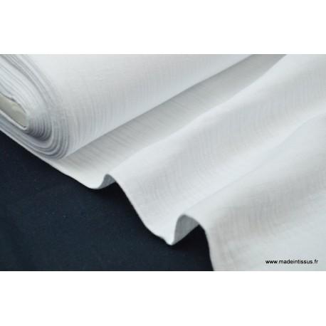 Double gaze coton blanc x50cm