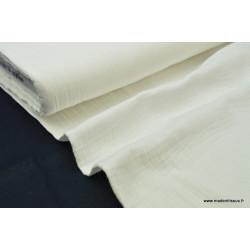Tissu Double gaze coton Ivoire .x1m