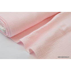 Double gaze coton Rose .x1m