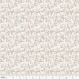 """Coton imprimé BRINDILLES ET BAIES rose  """"Sweet Dreams""""  de Maude Asbury by Blend Fabrics .x1m"""