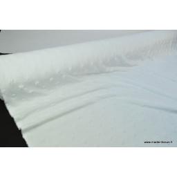 Tissu minky ETOILES BLANC x50cm