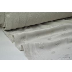 Tissu minky ETOILES TAUPE .x1m