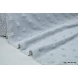 Tissu minky ETOILES GRIS x50cm