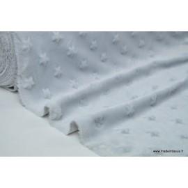 Tissu minky ETOILES GRIS .x1m