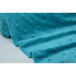 Tissu minky ETOILES PETROLE .x1m