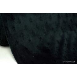 Tissu minky ETOILES NOIR .x1m