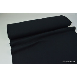 Double gaze coton noir x50cm