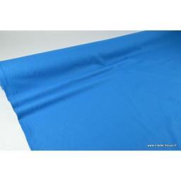 Tissu cretonne coton Bleu Petrole  par 50cm