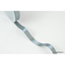 Ruban SATIN double face GRIS , 10 mm, au mètre