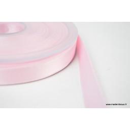 Ruban SATIN double face ROSE , 10 mm, au mètre