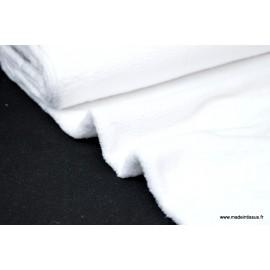 Tissu doudou double face blanc x50cm