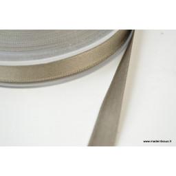 Ruban SATIN double face TAUPE, 10 mm, au mètre