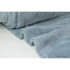 Tissu doudou double face gris x50cm