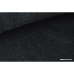 Tissu Polaire Made in France haut de gamme GRIS ANTHRACITE x50cm