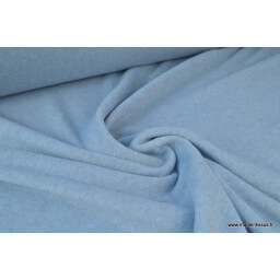 Tissu Polaire Made in France BLEU