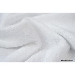 Tissu Eponge en viscose de bambou coloris blanc au mètre