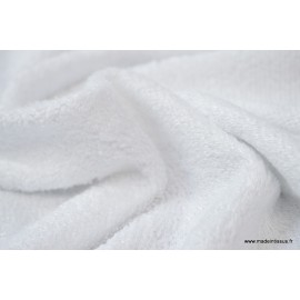 Eponge Blanc  indemaillable en viscose de bambou x 50cm