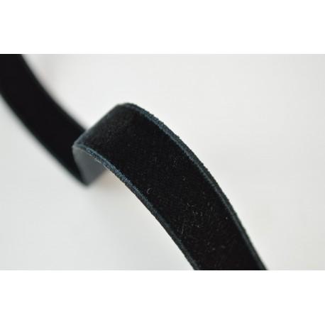 Ruban velours Noir, 16mm, au mètre