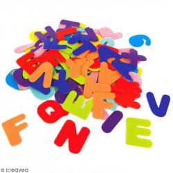 Formes Chiffres et lettres en feutrines adhésive 150pcs