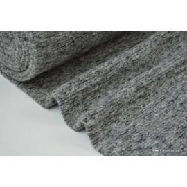 Lainage boucle Gris laine et alpaga x50cm