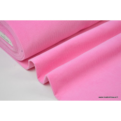 Tissu velours côtelé coton ROSE .x1m