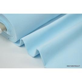 Tissu velours côtelé MILLERAIES coton BLEU CIEL x50cm