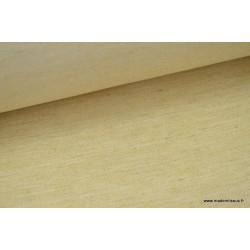 Tissu Sergé rustique coton lin beige .x 1m