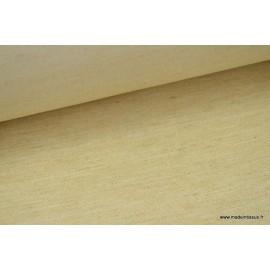 Sergé rustique coton lin beige .x 1m