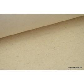 Sergé rustique coton lin naturel x50cm