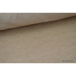 Tissu Sergé rustique coton lin marron  .x 1m