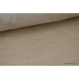 Sergé rustique coton lin marron x50cm