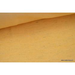 Tissu Sergé rustique coton lin moutarde  .x 1m