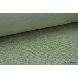 Sergé rustique coton lin sapin  .x 1m