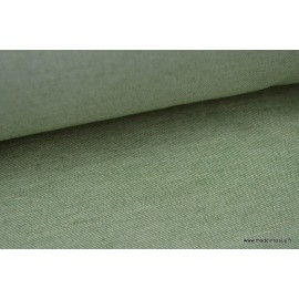 Tissu Sergé rustique coton lin sapin  .x 1m