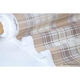 Tissu demi natté imprimé carreaux ecossais x50cm