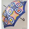 Parapluie Piganiol cercles jaunes et bleu