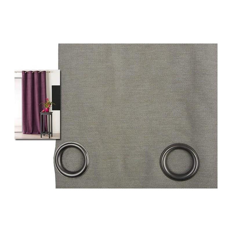 Rideau isolant thermique 140x260 pret poser beige made in tissus - Tissu isolant thermique ...