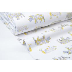 Jersey lourd imprimé Rhinos x50cm