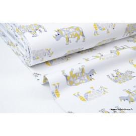 Jersey molleton imprimé Rhinos x50cm