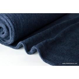 Tissu Polaire pure laine vierge, crépuscule,label GOTS .x1m