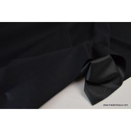 Tissu gabardine imperméable polyester coton noir