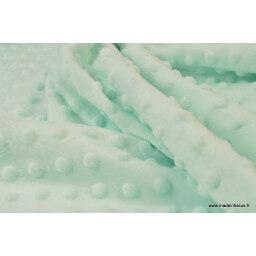 Tissu minky POIS MENTHE clair x50cm