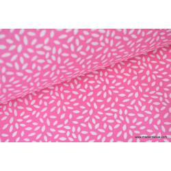 Tissu coton imprimé dessin grains de blé fuchsia