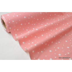Tissu coton imprimé dessin étoiles multi CORAIL .x1m