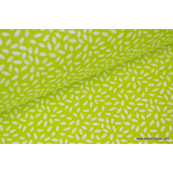 Tissu coton imprimé dessin grains de blé anis x50 cm