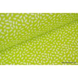 Tissu coton imprimé dessin grains de blé anis  .x1m