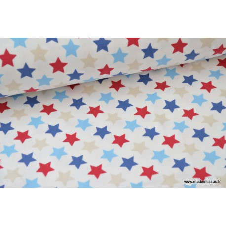 Jersey imprimé étoiles x50 cm