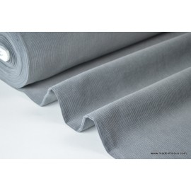 Tissu velours côtelé coton gris x50cm