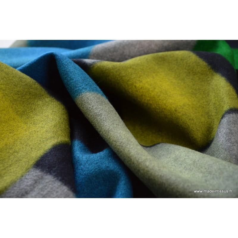 drap de laine bleu pour manteau x50 cm made in tissus. Black Bedroom Furniture Sets. Home Design Ideas