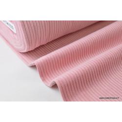 Tissu Velours cotelé grosses côtes Rose .x1m